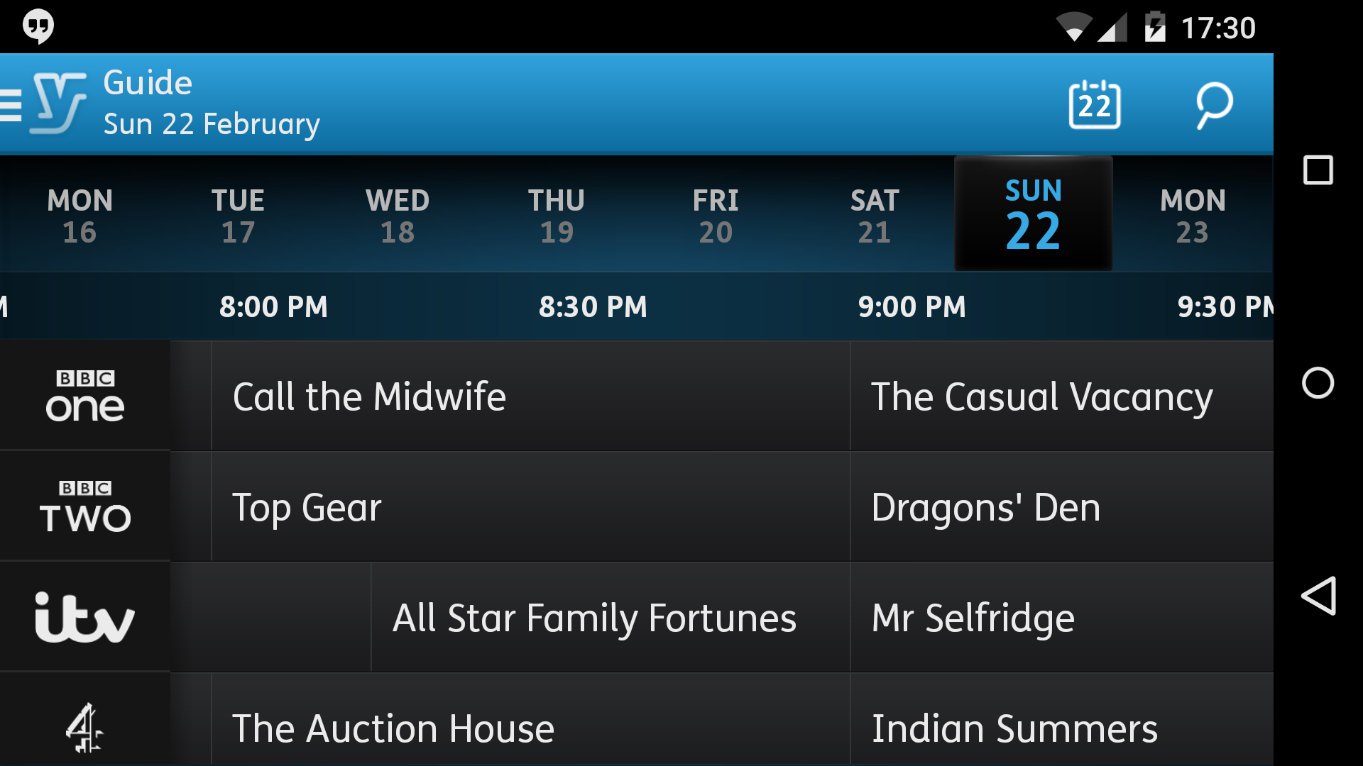 Youview App on Nexus 5