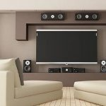 Home theatre with sound system